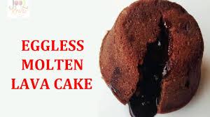 molten lava cake chocolate lava cake eggless lava cake youtube