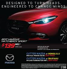 mazda specials weekend specials cutter mazda waipahu