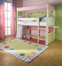 Furniture Kids Bedroom Bedroom Lovely Girls Loft Bed For Kids Bedroom Furniture Ideas