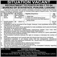 drivers bureau bureau of statistics 2017 in lahore for drivers and sanitary