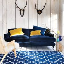 navy blue velvet sofa blue velvet sofa living room anthropologie free couch decorating