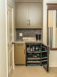 exotic bar with refrigerator associates man cave basement bar dry