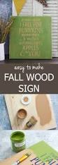 easy to make fall wood sign