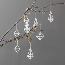 modern himmeli ornaments set of 8 hanging mobile 49 00 via