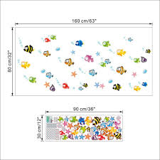 Ocean Wall Decals For Nursery by Aliexpress Com Buy Ocean Sea Baby Bubble Fishes Wall Stickers