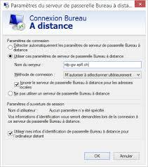 passerelle bureau à distance windows epfl article no 367 connexion bureau à distance avec la