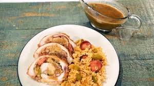 new orleans beans rice stuffed turkey with sazerac gravy