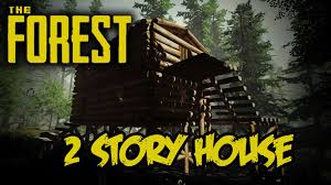 the forest 2 story house tutorial youtube