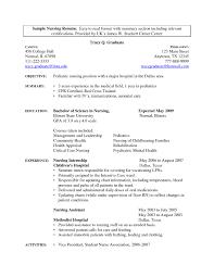 Nursing Objectives In Resume Nursing Assistant Resume Example Resume Example And Free Resume
