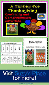 a turkey for thanksgiving craftivity and comprehension activities
