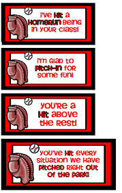 themed sayings tags for baseball bat gift for recess for the