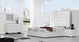 Modrest Lyrica Modern White Bedroom Set - Modern white leather bedroom set