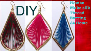 watch making design silk thread earrings tutorial diy