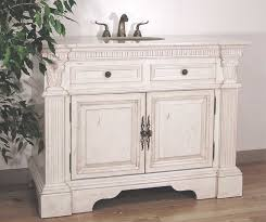 All Wood Bathroom Vanities by Bathroom Small Distressed Bathroom Vanity With Sink In White