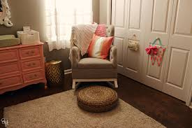 Upholstered Rocking Chairs For Nursery Dazzling Upholstered Rocking Chair In Eclectic With Nursery