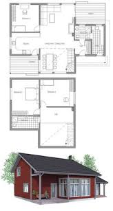 Narrow Modern House Plans Small House Plan Three Bedrooms Vaulted Ceiling Affordable