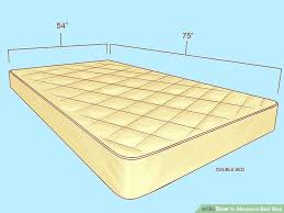 Size Double Bed How To Measure Bed Size 10 Steps With Pictures Wikihow