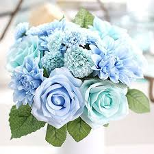 Tiffany Blue Flowers Blue Flowers For Wedding Bouquets Amazon Com