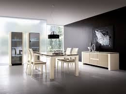 the best modern dining room sets amaza design excelent black accent wall color furnished with wall painting decoration completed with dining table and chairs