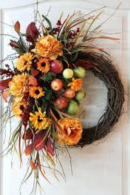 front doors trendy autumn wreaths front door for great looks