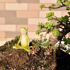fairy garden statues yoga frog garden statue home outdoor decoration