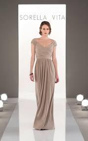 sleeved bridesmaid dresses bridesmaid dresses soft cap sleeved bridesmaid gown sorella vita