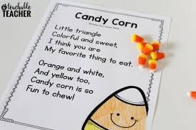 Halloween Short Poem Free Candy Corn Reading Activities A Teachable Teacher