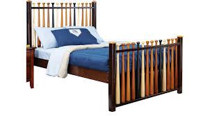 Baseball Bed Frame Batter Up Cherry 3 Pc Baseball Bed Slat
