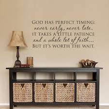 Christian Wall Decal God has perfect timing Decal