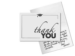 graduation thank you card best sle graduation thank you card template finishing