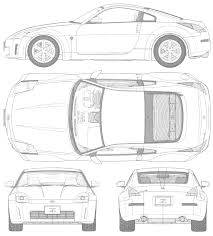 nissan gtr skyline drawing nissan car blueprints die autozeichnungen les plans d