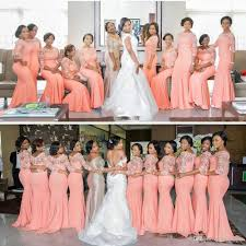 bridesmaid dresses arabic coral bridesmaid dresses with half sleeves