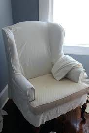 white slipcover chair slipcovers for wingback chairs white slipcover chair diy box cushion