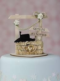 western cake topper western hitchin post wedding cake top straw hay bale