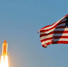 Usa Flag Cape Ende Einer ära Geht Der Supernation Der Raumfahrt Die Luft Aus