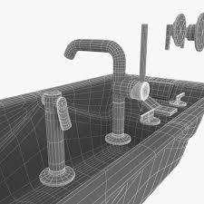 waterworks plumbing fixtures kohler bathtub duravit toilet 3d