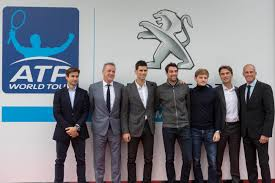 peugeot world peugeot and atp announce global partnership