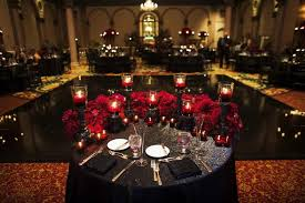 Sweet Heart Table Reception Décor Photos Black And Deep Red Sweetheart Table