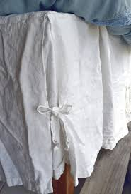 Pleated Valance Ivory Heavy Weight Rustic Linen Bed Skirt Dust Ruffle Valance