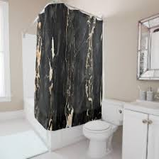 Black Gold Curtains Black And Gold Shower Curtains Zazzle