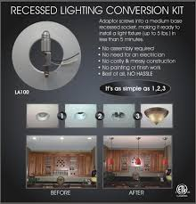 kit to convert recessed light to pendant home lighting 34 convert can light to pendant recessed lighting