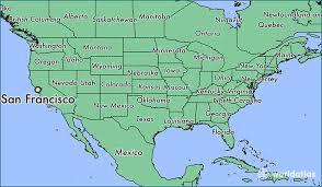 san francisco on map where is san francisco ca where is san francisco ca located