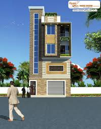 3 bedroom modern triplex 3 floor house design with garage shop