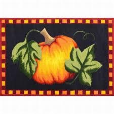 Kitchen Accent Rugs Printed Accent Rug Harvest Pumpkin Throw Rug No Skid Kitchen Mat