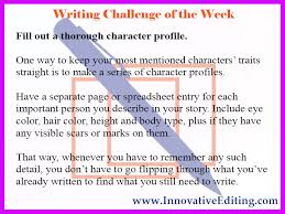 character profiles can save you and your story some serious headaches