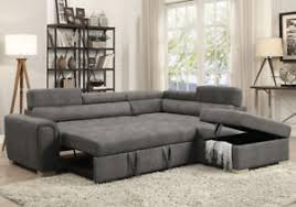 Sectional Sofa With Ottoman Thelma Sectional Sofa Pull Out Sleeper Storage Ottoman Gray