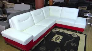 white u0026 red leather modern sectional sofa by modern line furniture