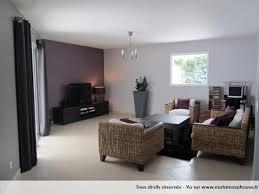 chambre gris et aubergine photos décoration de salon salle à manger moderne design violet