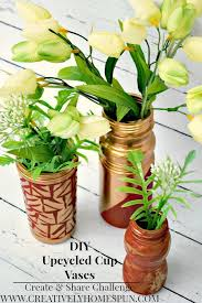 Challenge Vase May Create And Challenge Diy Upcycled Vases