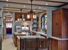 arts and crafts style homes interior design interesting play of materials tile and wood work well together